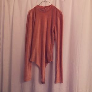 Peachy Velvet Urban Outfitters Body Suit.